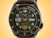 Seiko 5 X Street Fighter Limited Edition Guile Automatic PVD-coated Stainless Steel Watch SRPF21K1