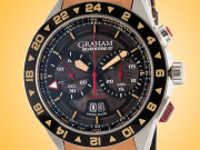 GRAHAM Silverstone GMT Men's Automatic Stainless Steel Chronograph Watch 2STDC.B08A.L119F