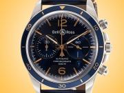 Bell & Ross Aeronavale Automatic Chronograph Stainless Steel Men's Watch BRV294-BU-G-ST/SCA