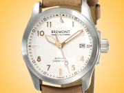 Bremont Solo 37 Silver Tone Dial Automatic Stainless Steel Men's Watch SOLO-37/BK-SI/R