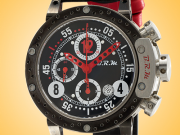 B.R.M Brake Disc Automatic Chronograph Titanium / PVD-coated Men's Watch DDF12-AR