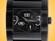 De Grisogono Annual Calendar Instrumento Novantatre N04 Automatic Black DLC-coated Stainless Steel Men's Watch