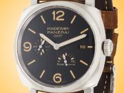 Officine Panerai Radiomir 1940 3 Days Power Reserve GMT Stainless Steel Men's Watch PAM00658