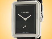 CHANEL Boy-Friend Black Dial Ladies Hand-wound Stainless Steel Watch H5319