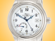 BALL Watch Co. Trainmaster Power Reserve Men's Automatic Stainless Steel Watch NM1O56D-S1J-WH