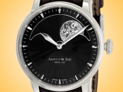 Arnold & Son HM Perpetual Moon Phase Men's Manually Wound Stainless Steel Watch 1GLAS.B01A.C122S