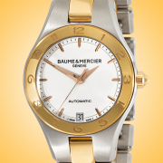 Baume & Mercier Linea Automatic Rose Gold Cap and Stainless Steel Ladies Watch MOA10073