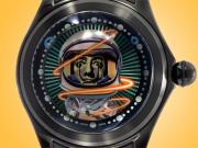 """Corum """"Big Bubble"""" 52 Magical Elisabetta Fantone Salvador Dalí Dial Men's Automatic Black PVD-coated Titanium Watch 390.101.95/0371 EF02"""