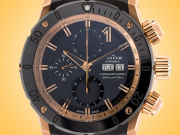 "EDOX ""CO-1"" Automatic Chronograph Rose Gold PVD Steel Men's Watch Model: 01122 37R NIR"