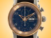 Cuervo Y Sobrinos Torpedo Pirata Chronograph Men's Bronze, Titanium, and Burnished Steel Automatic Watch 3051.5N