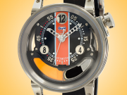 B.R.M Gulf Edition Automatic Black PVD-coated Stainless Steel Men's Watch CNT-44-GULF
