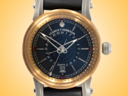 Cuervo Y Sobrinos Torpedo Caribeno GMT Pirata Men's Bronze, Titanium, and Burnished Steel Automatic Watch 3052.5NGMT