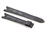 Cartier Black-Colored Matte Finish Alligator Skin Strap 111 x 81 mm