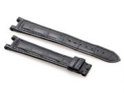Cartier Black-Colored Matte Finish Alligator Skin Strap 111 x 81 mm